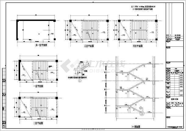 点击查看【江西】地上四层框架结构商业楼结构设计施工图第1张大图