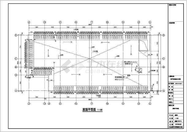 【内蒙古】三层框架结构图书综合楼结构设计施工图(含建筑图)-图3
