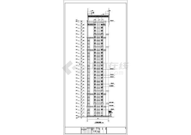 点击查看三十三层人防剪力墙住宅结构设计施工图(含建筑图)第1张大图