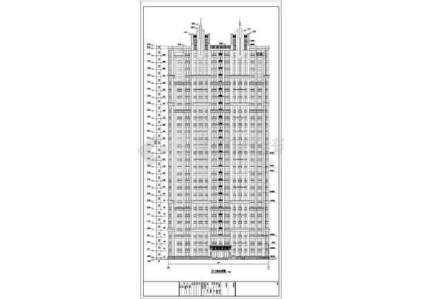 三十三层人防剪力墙住宅结构设计施工图(含建筑图)-图1
