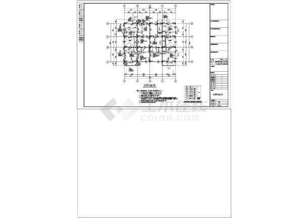 点击查看五层框架结构私人住宅施工图(含建筑图)第1张大图