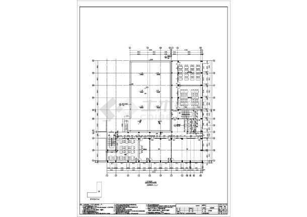 七层框架结构商务职业学校实训教学楼结构施工图(含建筑图)-图一