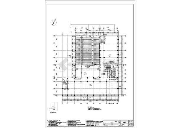 七层框架结构商务职业学校实训教学楼结构施工图(含建筑图)-图1