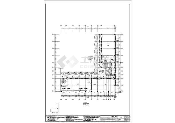 七层框架结构商务职业学校实训教学楼结构施工图(含建筑图)-图2