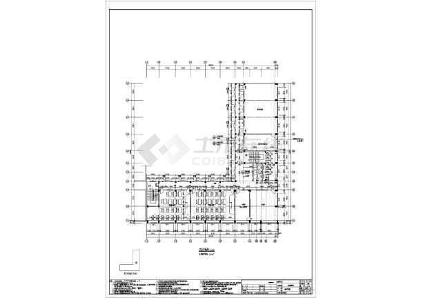 七层框架结构商务职业学校实训教学楼结构施工图(含建筑图)-图3