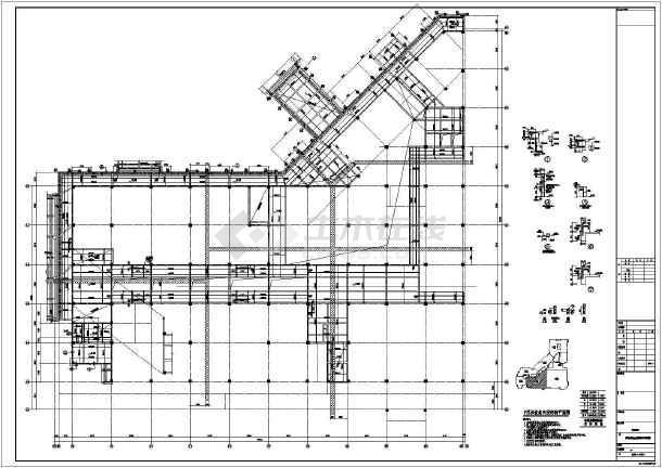 【河南】地上四层框架结构F区商业区结构设计施工图-图二