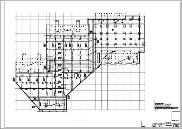 【山东】地下一层框架结构车库结构设计施工图-图二