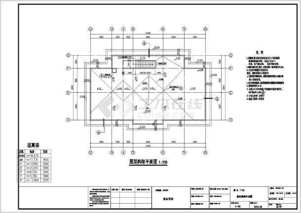 点击查看【广东】四层框架结构私人住宅结构施工图(含建筑图)第1张大图