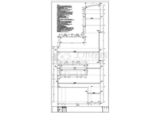 【广东】地上三层框架结构商业裙房结构设计施工图-图一