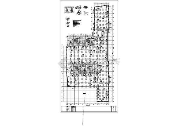 【广东】地上三层框架结构商业裙房结构设计施工图-图1