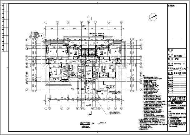 【重庆】4069平十八层剪力墙结构大学教职工住宅结构施工图(含建筑图)-图1
