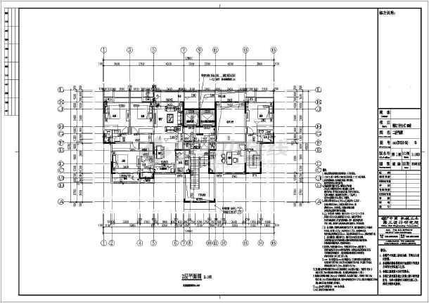 【重庆】4069平十八层剪力墙结构大学教职工住宅结构施工图(含建筑图)-图2