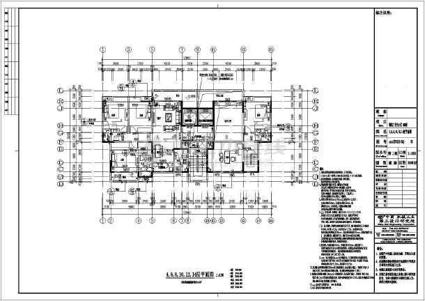 【重庆】4069平十八层剪力墙结构大学教职工住宅结构施工图(含建筑图)-图3