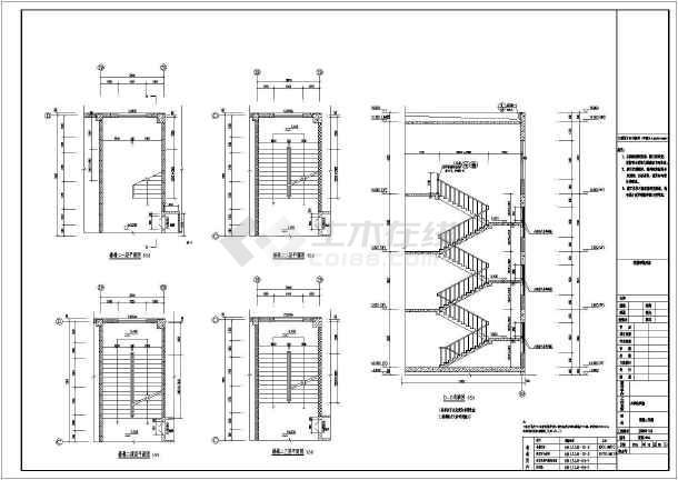 点击查看【山东】四层框架结构小学教学楼结构施工图(含建筑图)第1张大图