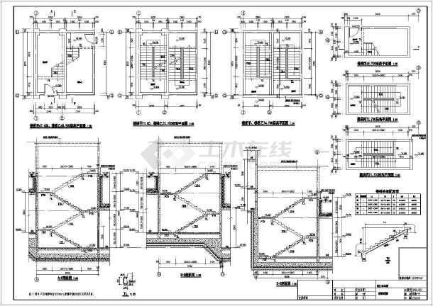 【山东】地下单层框架结构车库结构设计施工图-图二