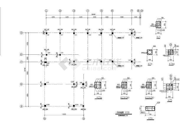 某三层框架教学楼全套建筑及结构设计施工图-图一