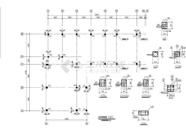 某三层框架教学楼全套建筑及结构设计施工图-图2