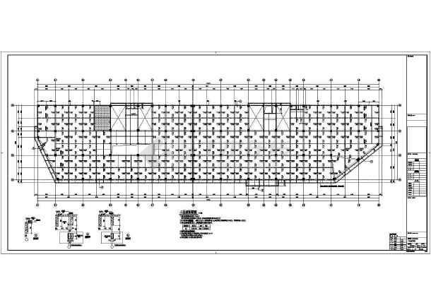 【浙江】地上三层框架结构商业楼地上部分结构设计施工图-图1