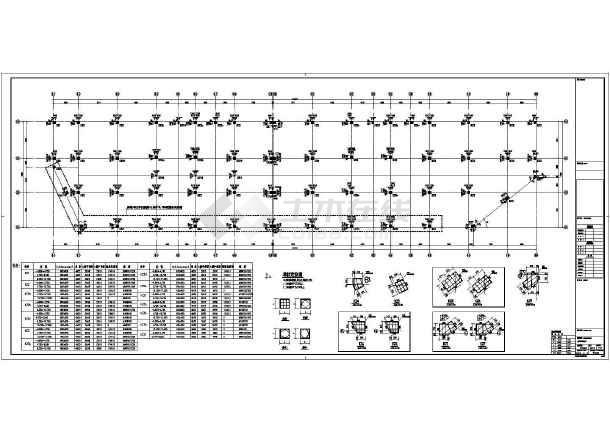 【浙江】地上三层框架结构商业楼地上部分结构设计施工图-图2