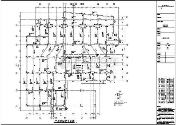 三十一层框支剪力墙综合楼结构设计施工图-图2