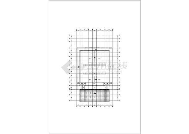 点击查看三层框架结构师范大学体育馆结构施工图(含建筑图、倒三角桁架屋盖)第1张大图