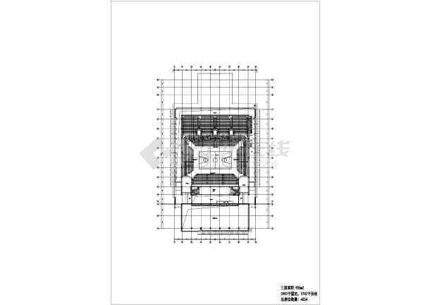 点击查看三层框架结构师范大学体育馆结构施工图(含建筑图、倒三角桁架屋盖)第2张大图