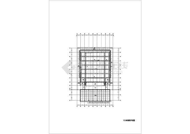 三层框架结构师范大学体育馆结构施工图(含建筑图、倒三角桁架屋盖)-图2
