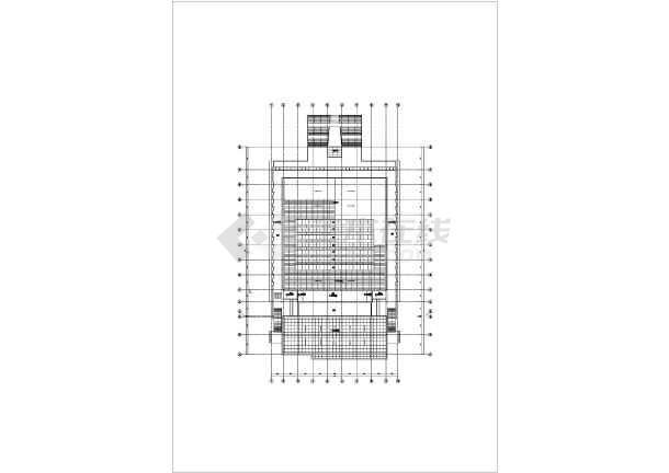 三层框架结构师范大学体育馆结构施工图(含建筑图、倒三角桁架屋盖)-图3