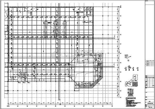 【河南】地上四层框架结构G区商业区结构设计施工图-图二