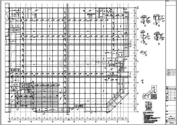 【河南】地上四层框架结构G区商业区结构设计施工图-图2