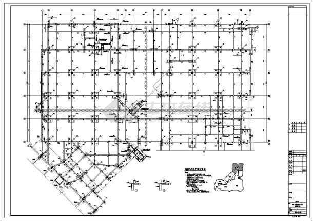 【河南】地上四层框架结构A区商业区结构设计施工图-图一