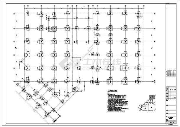 【河南】地上四层框架结构A区商业区结构设计施工图-图二