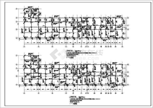 【安徽】五层框架结构综合楼结构设计施工图-图二