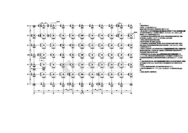 【南京】地上五层框架结构车间厂房结构设计施工图-图2