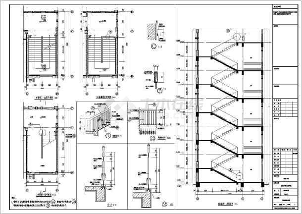 点击查看【浙江】五层框架结构实验中学教学楼结构施工图(含建筑图回旋钻孔灌注桩)第2张大图