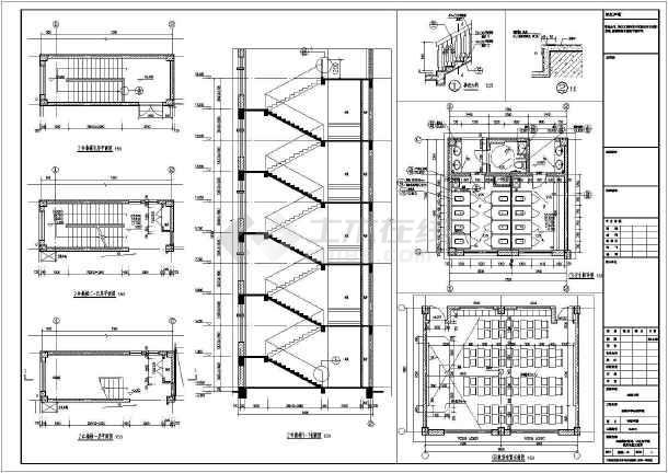 【浙江】五层框架结构实验中学教学楼结构施工图(含建筑图回旋钻孔灌注桩)-图2