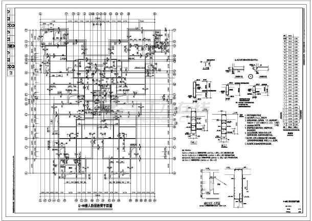 【北京】地下两层地上二十八层剪力墙住宅结构设计施工图-图3