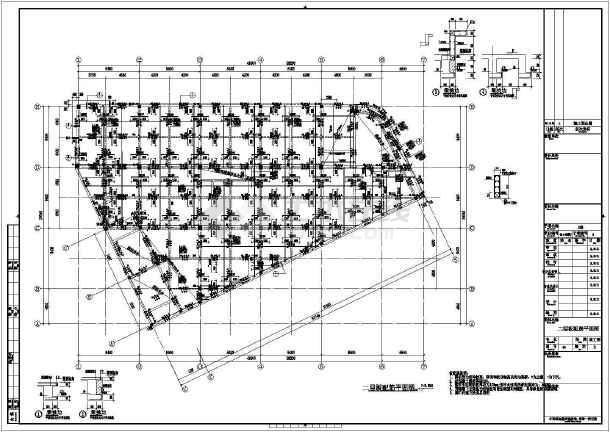 【江西】四层框架结构商业楼结构设计施工图-图二