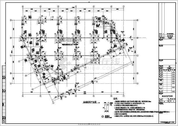 【江西】四层框架结构商业楼结构设计施工图-图2