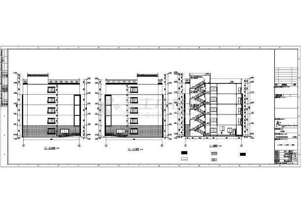 【四川】五层框架结构寄宿制学校宿舍楼结构施工图(含建筑图)-图1