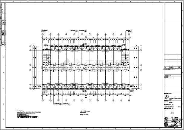 【四川】五层框架结构寄宿制学校宿舍楼结构施工图(含建筑图)-图3
