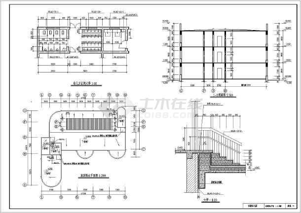 【广东】三层框架结构私人豪宅结构设计施工图(含建筑图)-图一