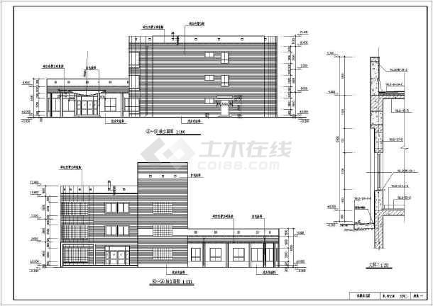 【广东】三层框架结构私人豪宅结构设计施工图(含建筑图)-图二
