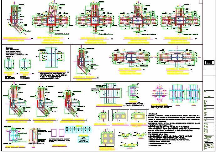 某四十层钢骨框架钢筋混凝土核心筒框架-核心筒结构双子塔楼结构施工图图片2