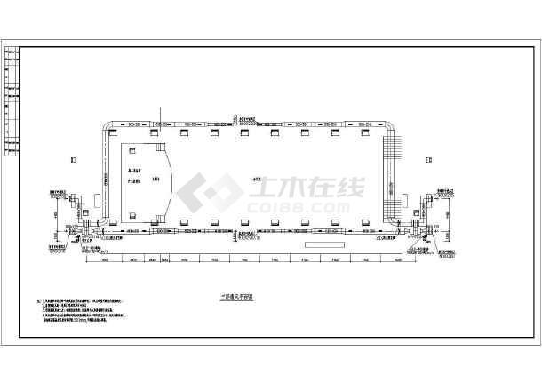 地上三层办公楼空调通风图纸,含设计说明-图二