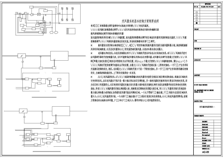 某研发大楼变风量空调设计图纸图片1