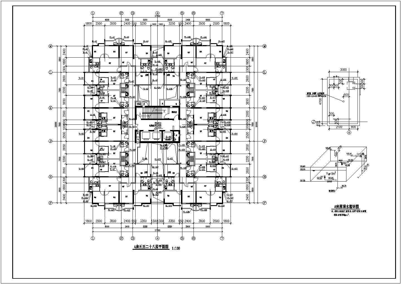 某地上二十八层建筑给排水图纸(共45张图纸)图片3