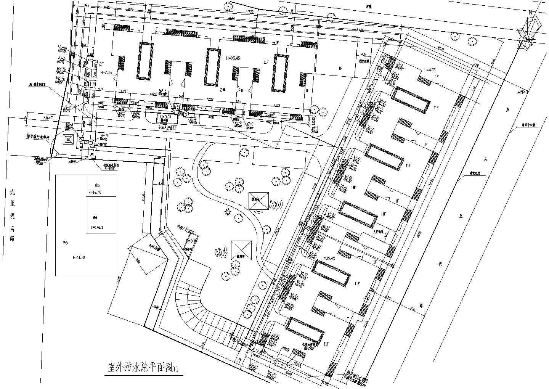 四川某小区室外给排水总平面图(含设计说明)图片3
