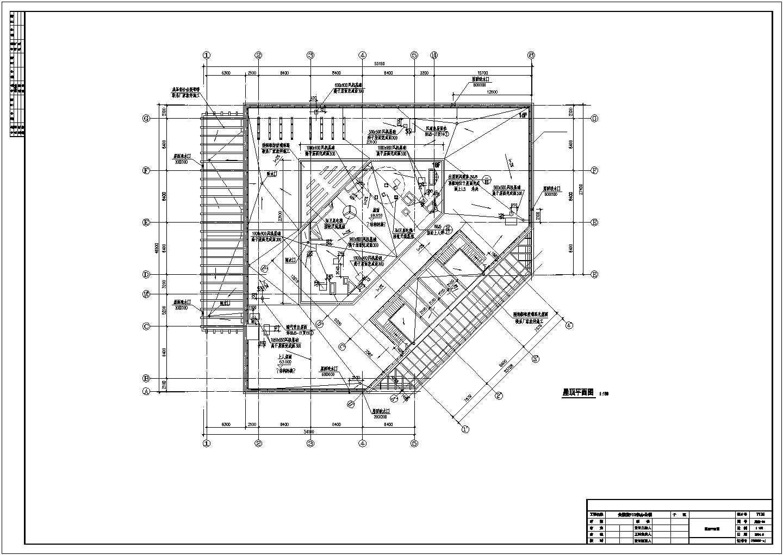 屋顶平面图(F10建筑施工图)图片1