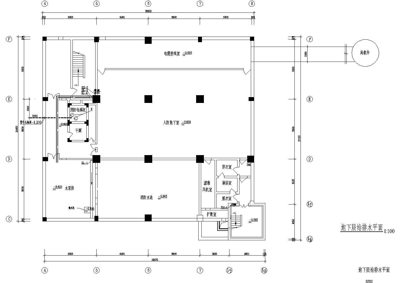 某二类高层办公楼给排水施工图图片2